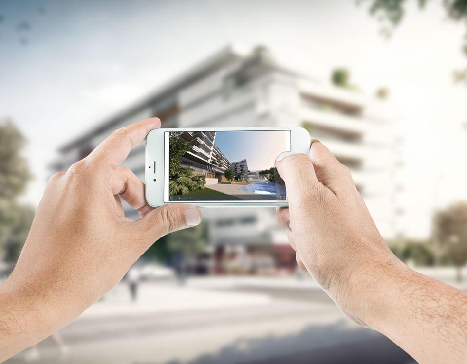Visualización de un proyecto 360 de F5 en mobile
