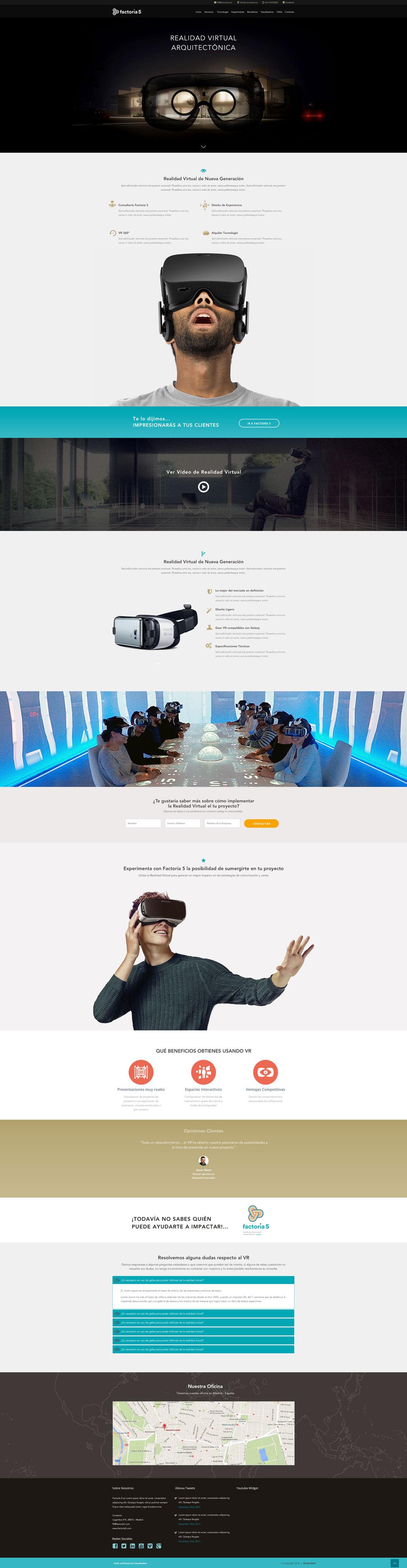 Landing Page Realidad Virtual de F5