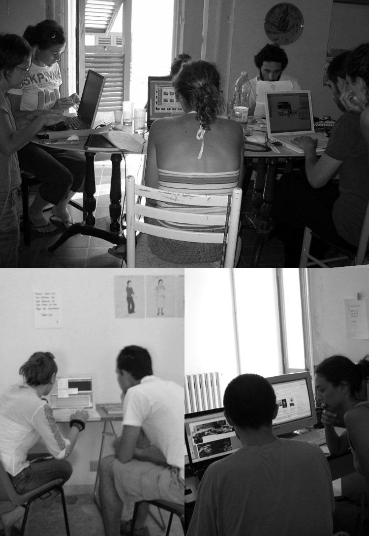 Grupos de tabrajo para la elaborar las diversas partes del proyecto
